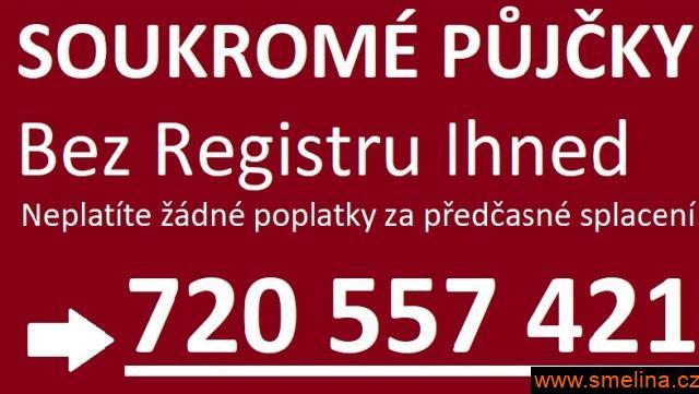 Rychlá půjčka bez registru ihned 720557421