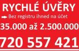 Rychlá půjčka ihned bez registru na účet720557421